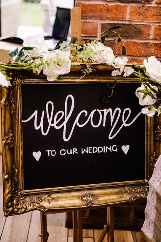 Large Ornate Welcome Sign