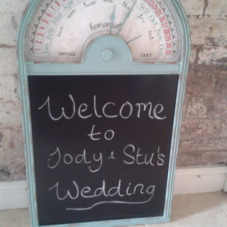 Quirky Blackboard Sign