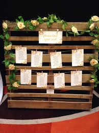Pallet Table Seating Plan