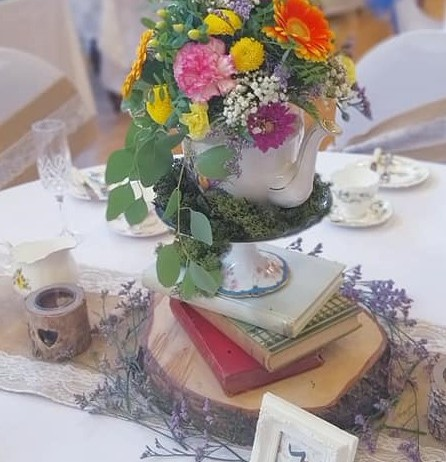 Vintage Crockery Centrepiece Display