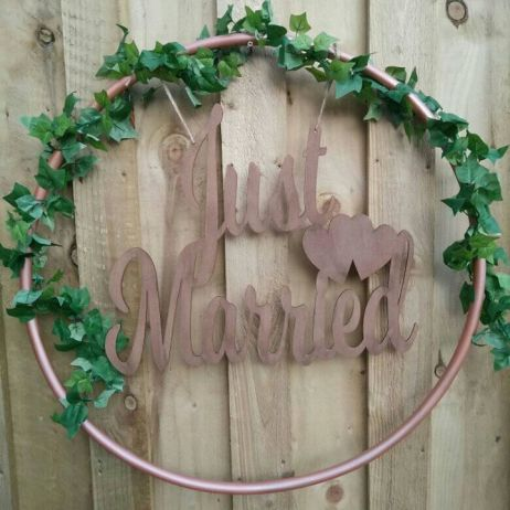 Just Married Hoop